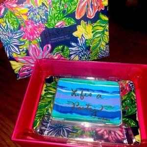Lilly Pulitzer Jewelry Trinket Tray Set